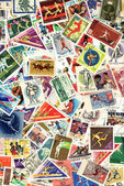 Background of sport postage stamps — Stock Photo
