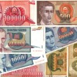 Hyperinflation of Yugoslavidinar banknotes — Stock Photo #17000161