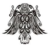 Stylized symmetric vignette with birds — Stock Vector