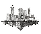 Atlanta, ga-skyline — Stockvektor