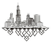 Chicago, IL Skyline — Stock Vector