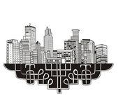 Minneapolis, MN Skyline — Stock Vector