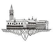 Panoramę Wenecja — Wektor stockowy