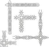 Celtic decorative knot corners — Stock Vector