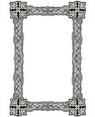 Celtic decorative knot frame — Stock Vector