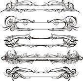 Slim decorative panels — Stock Vector