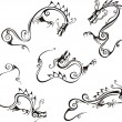 Stylistic dragon tattoos — Image vectorielle