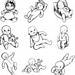 Sketches of babies — Stock Vector #23164068