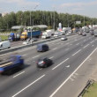 Stock Video: Traffic of vehicles on MKAD road in Moscow