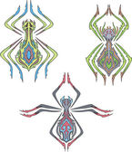 Symmetrical spiders — Stock Vector