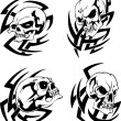 Tattoos with skulls — Stock Vector
