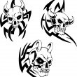 Stock Vector: Skulls of devils