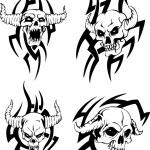 Evil skulls — Stock Vector #31891919