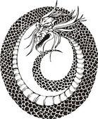 Dragon circle — Stock Vector