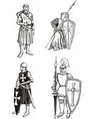 Medieval knights — Stock Vector