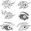Stock vektor: Decorative eyes