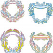 Stylized decorative flaming frames — Stock Vector #36438771