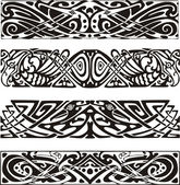 Knot designs in celtic style with birds — Stock Vector
