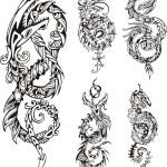 стилизованный дракон татуировки узел - Стоковая иллюстрация #39713425...