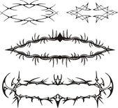 Decorative spiny frames — Stock Vector