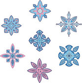 Ornamental snowflakes — Stock Vector