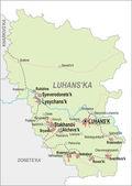 Map of Luhansk Oblast — Stock Vector