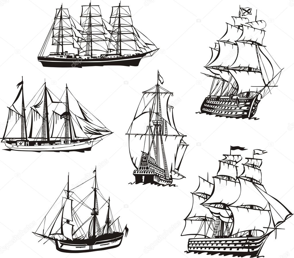 рисунки лодки графике
