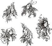 精致的幻想的女孩 — 图库矢量图片