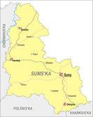 Map of Sumy Oblast — Vector de stock