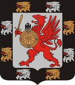 Coat of arms of the Romanov dinasty — Stock Vector