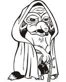 Vecchio cartone animato di ratto — Vettoriale Stock