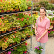 Garden centre woman shopping plants — Stock Photo #12060009