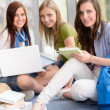Group of teenage student study at high-school — Stock Photo #12588612