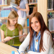 Young girl studying at high school — Stock Photo #12588614
