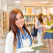 High school students at library read books — Stock Photo #12588729