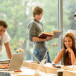 High-school students learning in study teens young — Stock Photo #12924211