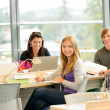 Student back to school in library study — Stock Photo #12924480