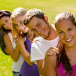 Students enjoying a break in the park — Stock Photo #12926464