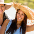 Mother and daughter relaxing outdoors summer teen — Stock Photo #13248535