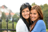 Mother and daughter spending free time outdoors — Stock Photo