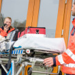 Emergency doctor home visit call radio ambulance — Stock Photo #13598049