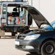 Stock Photo: Repairing service mwith damaged car trouble