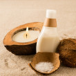 Spa coconut body products - Stock Photo
