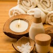 Stock Photo: Coconut spa and beauty cosmetics