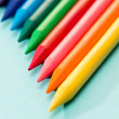 Kid's coloring crayons school art — Stock Photo