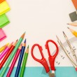 School accessories for elementary grades - Stock Photo