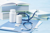 Doctor accessories and medications — Stock Photo