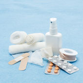 Content of First aid kit — Stock Photo