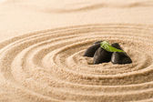 Spa still nature zen stones in sand — Stock Photo