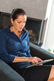 Young businesswoman using digital tablet — Stock Photo